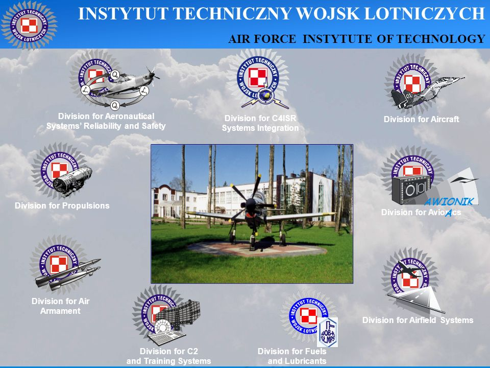 Division for Air Armament Division for Propulsions Division for Airfield Systems Division for C2 and Training Systems Division for Aircraft Division f