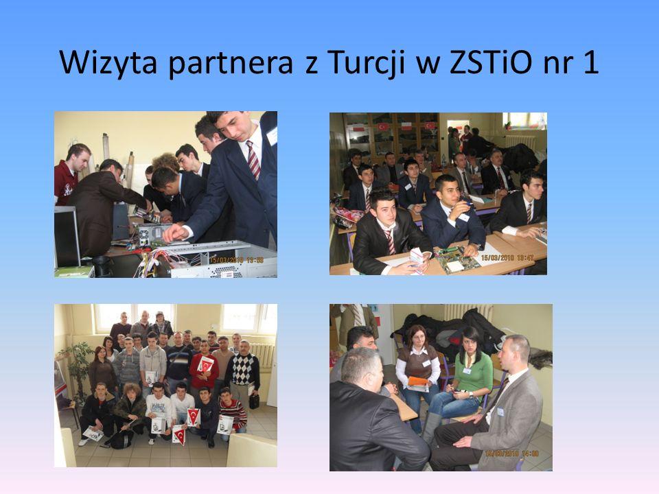 Wizyta partnera z Turcji w ZSTiO nr 1