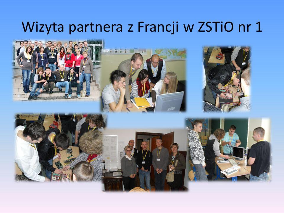 Wizyta partnera z Francji w ZSTiO nr 1