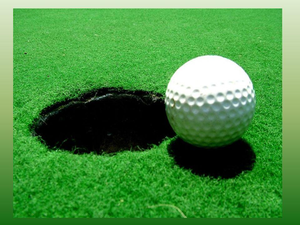 Golf Sport, uprawiany na otwartych trawiastych terenach, polegający na wrzucaniu małej piłeczki do niewielkich otworów w ziemi, za pomocą uderzeń spec