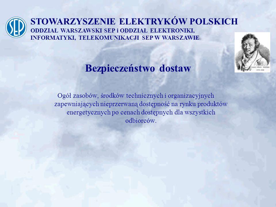STOWARZYSZENIE ELEKTRYKÓW POLSKICH ODDZIAŁ WARSZAWSKI SEP i ODDZIAŁ ELEKTRONIKI, INFORMATYKI, TELEKOMUNIKACJI SEP W WARSZAWIE Niezbędne zidentyfikowane działania (3) - dostosowanie linii NN oraz 110 kV do zwiększonego obciążenia - dostosowanie aparatury do parametrów pracy sieci