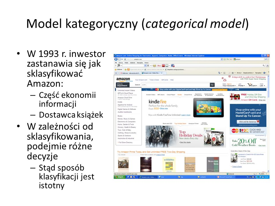 Model kategoryczny (categorical model) W 1993 r.
