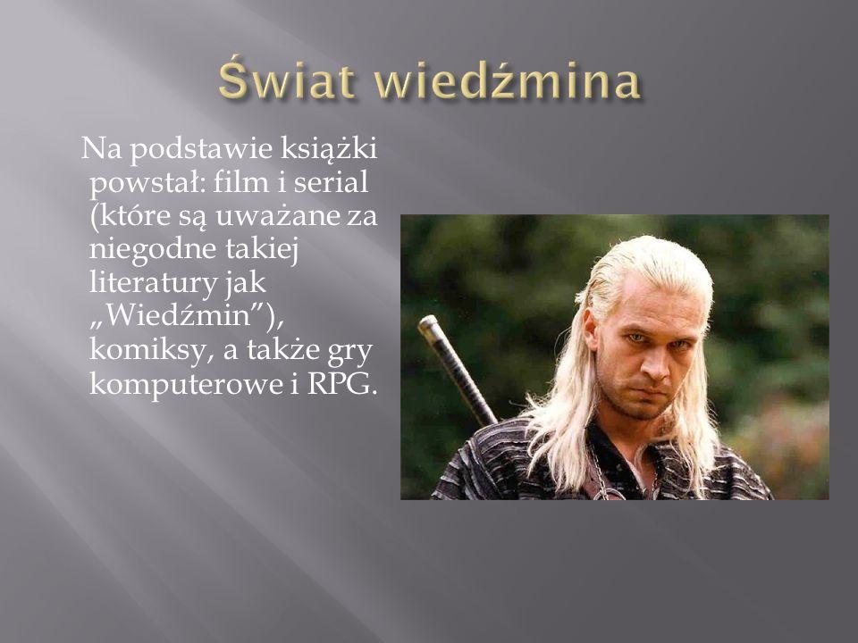 Na podstawie książki powstał: film i serial (które są uważane za niegodne takiej literatury jak Wiedźmin), komiksy, a także gry komputerowe i RPG.