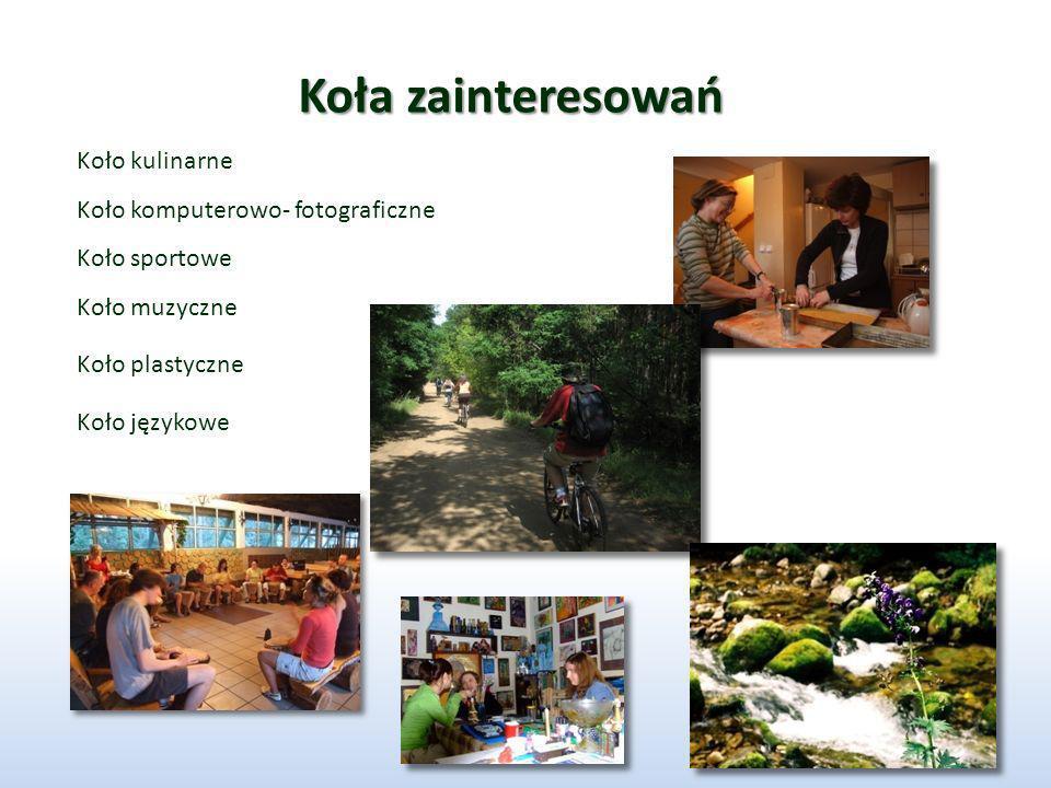 Koła zainteresowań Koło kulinarne Koło komputerowo- fotograficzne Koło sportowe Koło muzyczne Koło plastyczne Koło językowe