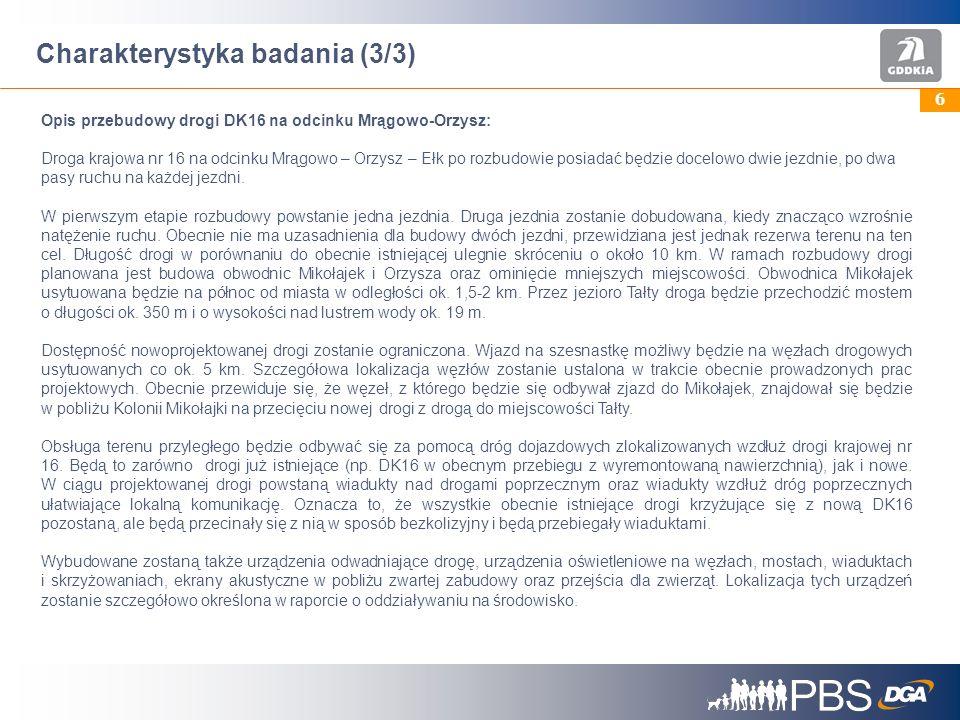 37 Akceptacja fragmentu budowy drogi DK16 przez jezioro Tałty (1/2) Pyt: Na ile osobiście akceptuje Pan(i) przedstawiony wariant budowy nowej drogi w tym przebiegu.