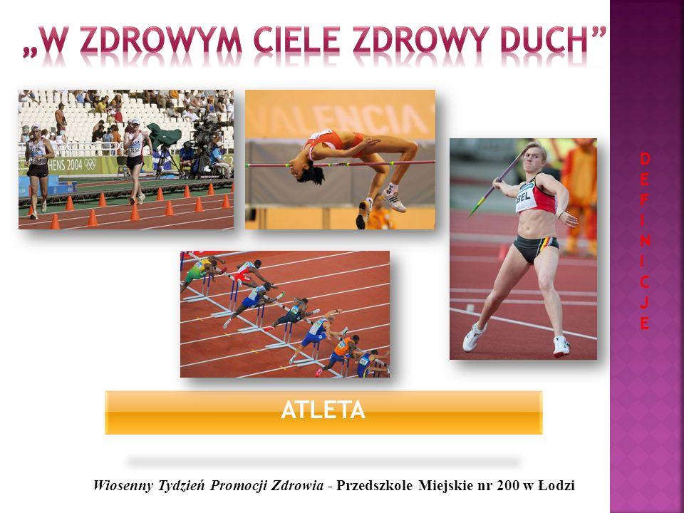 MUSKUŁY Wiosenny Tydzień Promocji Zdrowia - Przedszkole Miejskie nr 200 w Łodzi DEFINICJEDEFINICJE