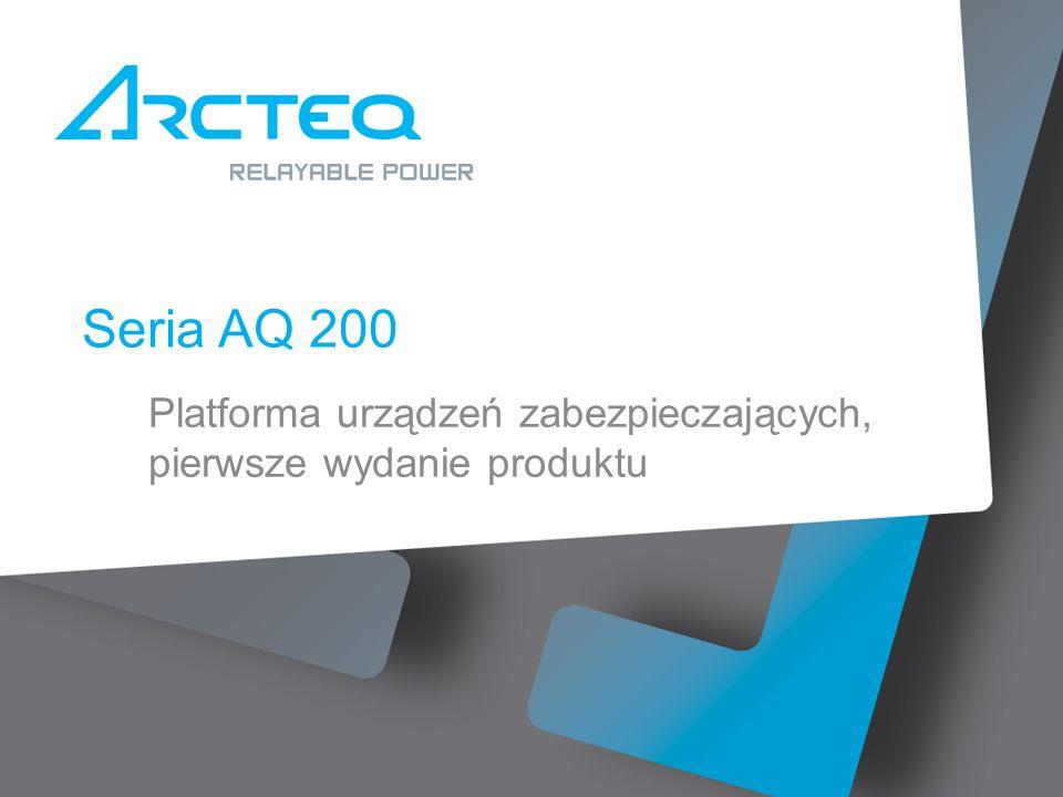 Seria AQ 200 Platforma urządzeń zabezpieczających, pierwsze wydanie produktu