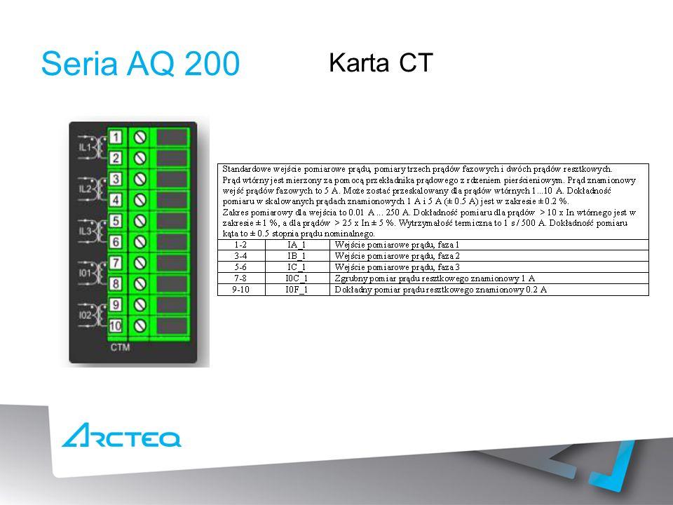 Seria AQ 200 Karta CT