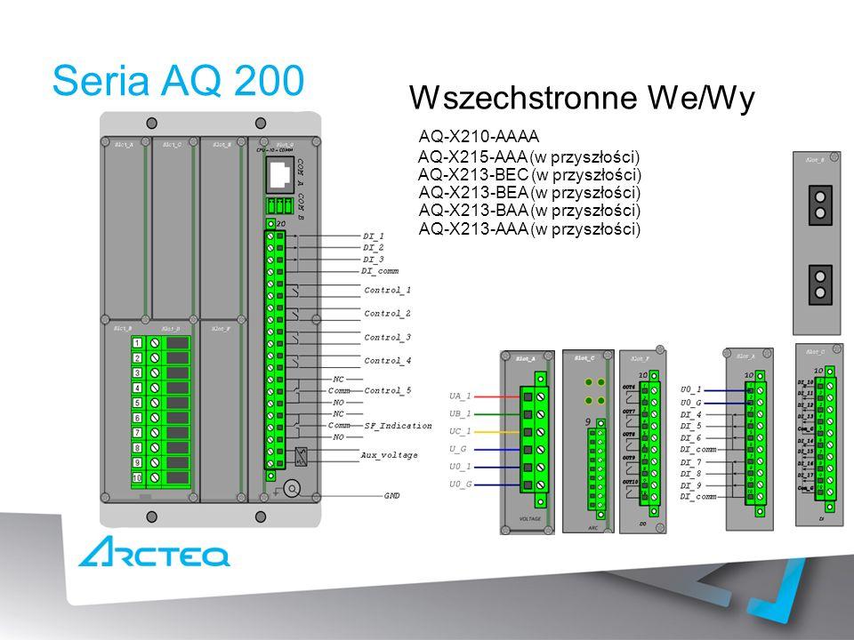 Seria AQ 200 Wszechstronne We/Wy AQ-X215-AAA (w przyszłości) AQ-X213-AAA (w przyszłości) AQ-X213-BAA (w przyszłości) AQ-X213-BEA (w przyszłości) AQ-X213-BEC (w przyszłości) AQ-X210-AAAA