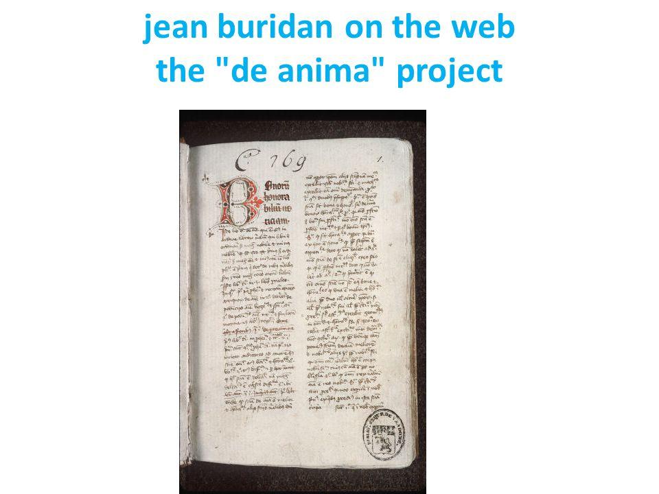 jean buridan on the web the