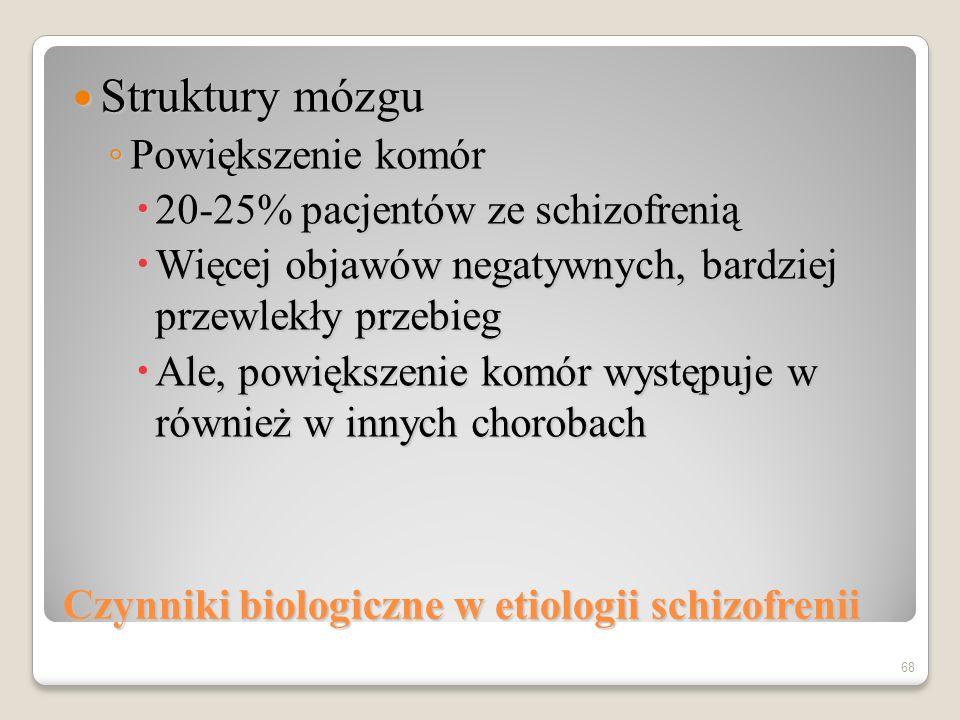 67 Motoryczne i językowe funkcjonowanie osób chorych na schizofrenią w okresie dziecięcym Mary Cannon i in., Arch Gen Psych, 2002, 59, 449-556 -4.0 -3.0 -2.0 0.0 1.0 2.0 Rozwój motoryczny Mowa Rozumienie mowy IQ