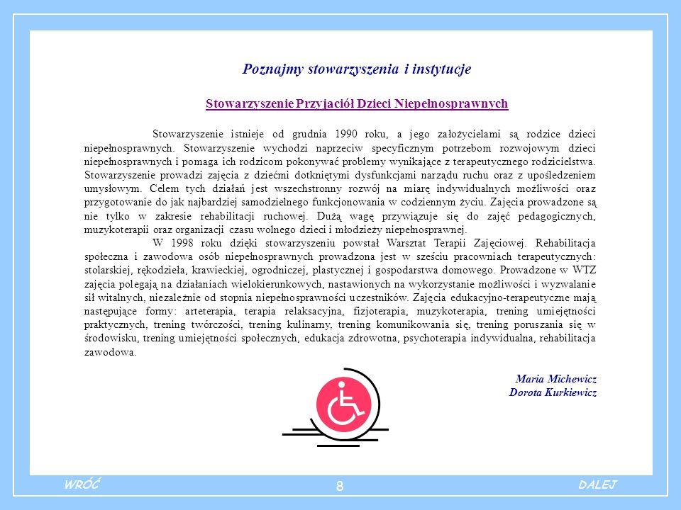 9 Tak pracujemy z naszymi dziećmi… Metoda Ośrodków Pracy Metoda Ośrodków Pracy została wprowadzona w Polsce przez patronkę naszej szkoły – prof.