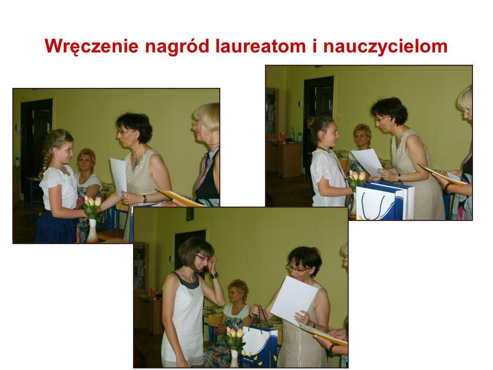 Wręczenie nagród laureatom i nauczycielom