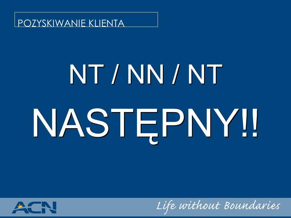 NT / NN / NT NASTĘPNY!! NT / NN / NT NASTĘPNY!! POZYSKIWANIE KLIENTA