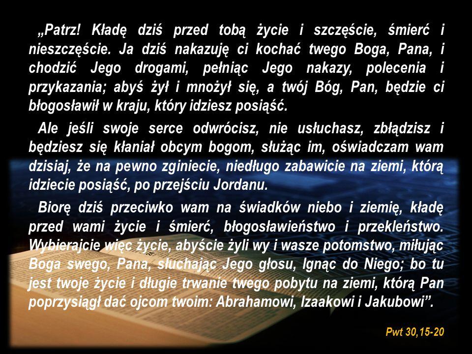 Jezus powiedział do swoich uczniów: Nie każdy, który Mi mówi: Panie, Panie!, wejdzie do królestwa niebieskiego, lecz ten, kto spełnia wolę mojego Ojca, który jest w niebie.