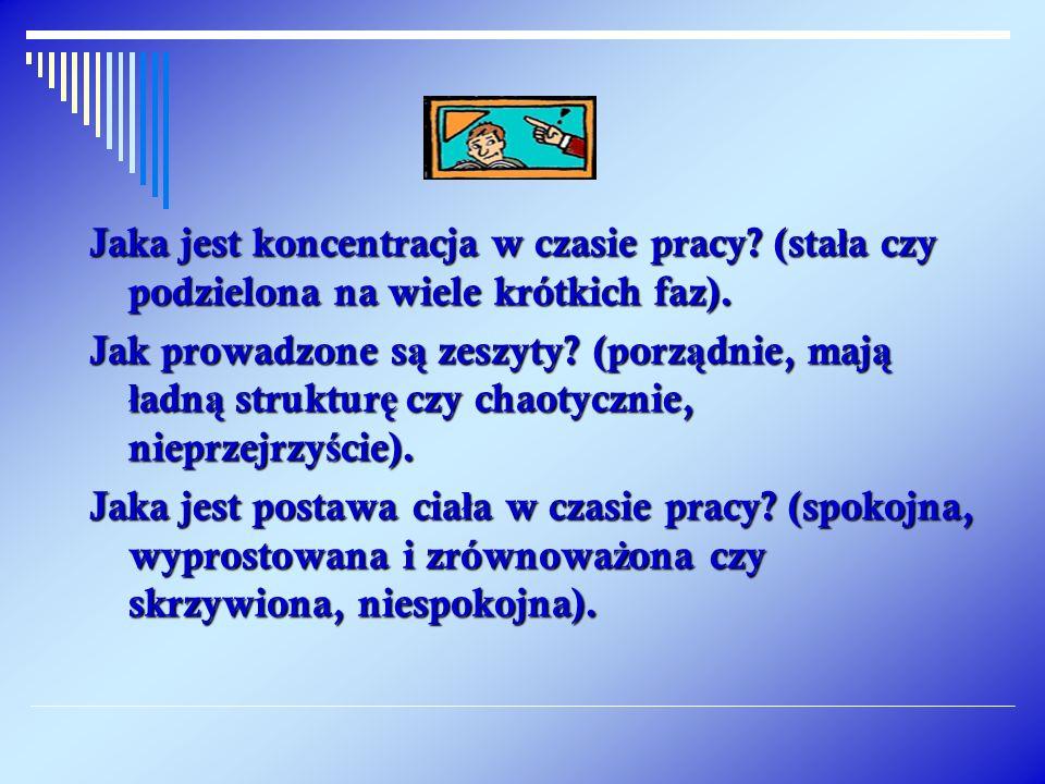 Trenowa ć postaw ę w stosunku do pracy bior ą c pod uwag ę – kilka kluczowych pyta ń : Jak przygotowany zostaje materia ł do pracy, a potem posprz ą tany.
