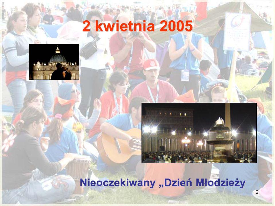 2 Nieoczekiwany Dzień Młodzieży 2 kwietnia 2005