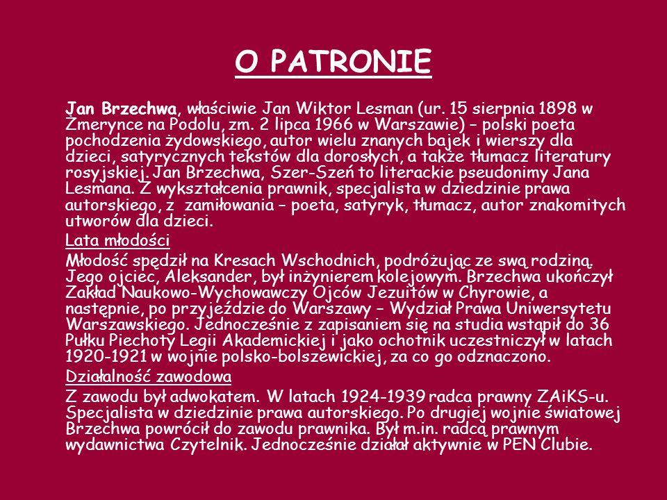 Twórczość Brzechwa jeszcze jako nastolatek zadebiutował w 1915, kiedy to opublikował swoje pierwsze wiersze w piotrogrodzkim Sztandarze oraz w kijowskich Kłosach Ukraińskich.
