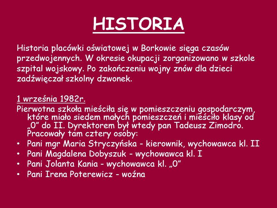 W 1983r.powołano Komitet Budowy Szkoły w Borkowie.