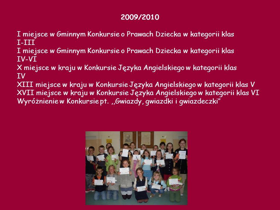 I miejsce w województwie pomorskim w Konkursie,,Alfik humanistyczny w kategorii klas IV VIII miejsce w województwie pomorskim w Konkursie,,Alfik humanistyczny w kategorii kl.