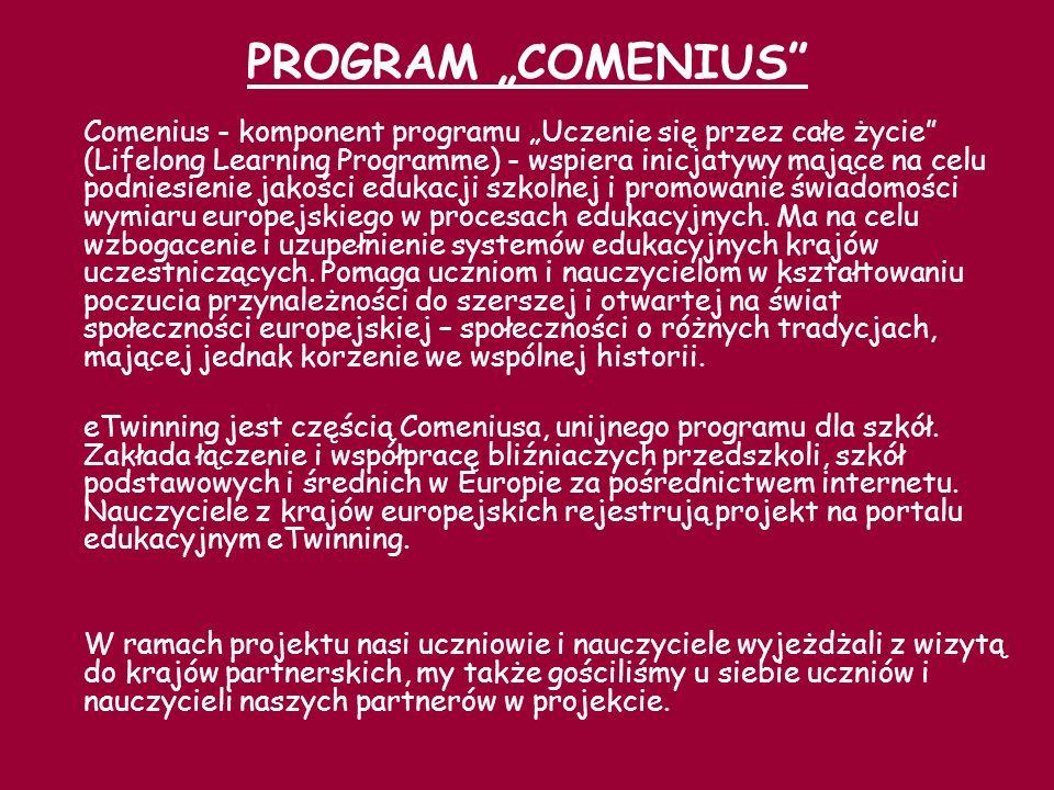 W latach 2005-2008 realizowaliśmy projekt ekologiczny pod nazwą JAK CHRONIMY NASZĄ PLANETĘ wspólnie ze szkołami ze Słowacji, Danii, Holandii oraz Włoch.