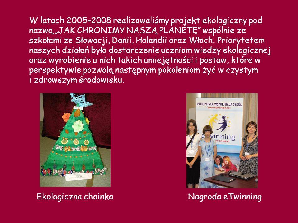 W latach 2008 - 2010 realizowaliśmy projekt ZDROWE CIAŁO, SPRAWNY UMYSŁ I PRAWDZIWA PRZYJAŹŃ Naszymi partnerami były szkoły z Hiszpanii (koordynator projektu), Portugalii, Słowenii, Włoch, Grecji, Rumunii, Wielkiej Brytanii.