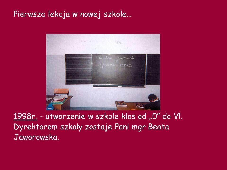 DYREKTORZY 1982/1983 Pan Tadeusz Zimodro Pani Maria Stryczyńska - kierownik placówki 1983-1987 Pani Irena Krasowska 1987-1991 Pani Małgorzata Matysiak