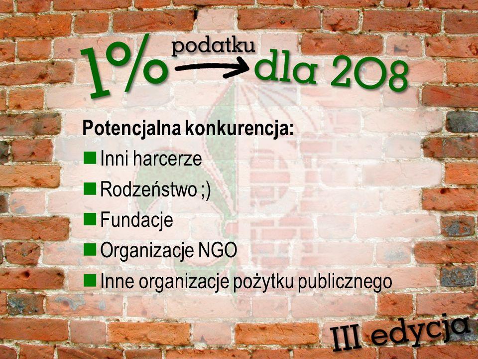 Potencjalna konkurencja: Inni harcerze Rodzeństwo ;) Fundacje Organizacje NGO Inne organizacje pożytku publicznego