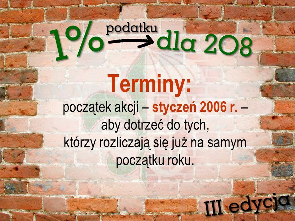 Terminy: początek akcji – styczeń 2006 r.