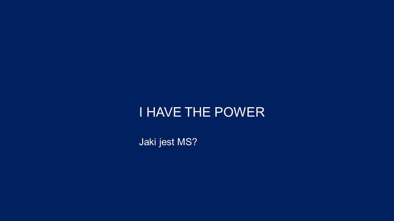 I HAVE THE POWER Jaki jest MS?