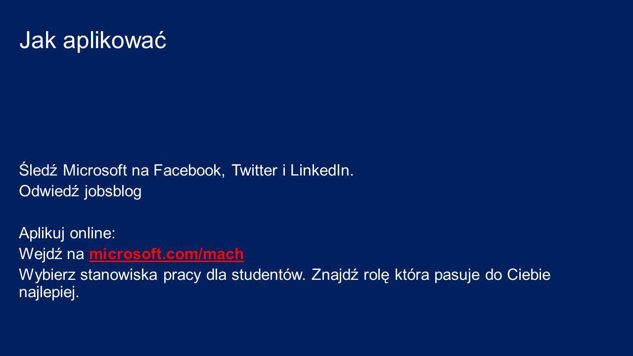 Jak aplikować Śledź Microsoft na Facebook, Twitter i LinkedIn.
