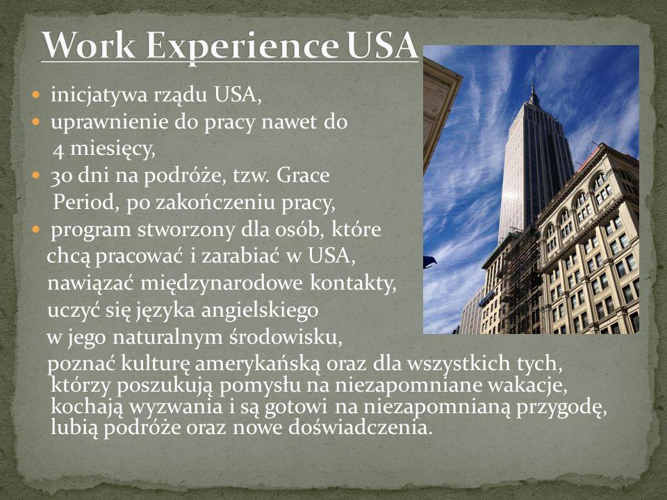 inicjatywa rządu USA, uprawnienie do pracy nawet do 4 miesięcy, 30 dni na podróże, tzw. Grace Period, po zakończeniu pracy, program stworzony dla osób
