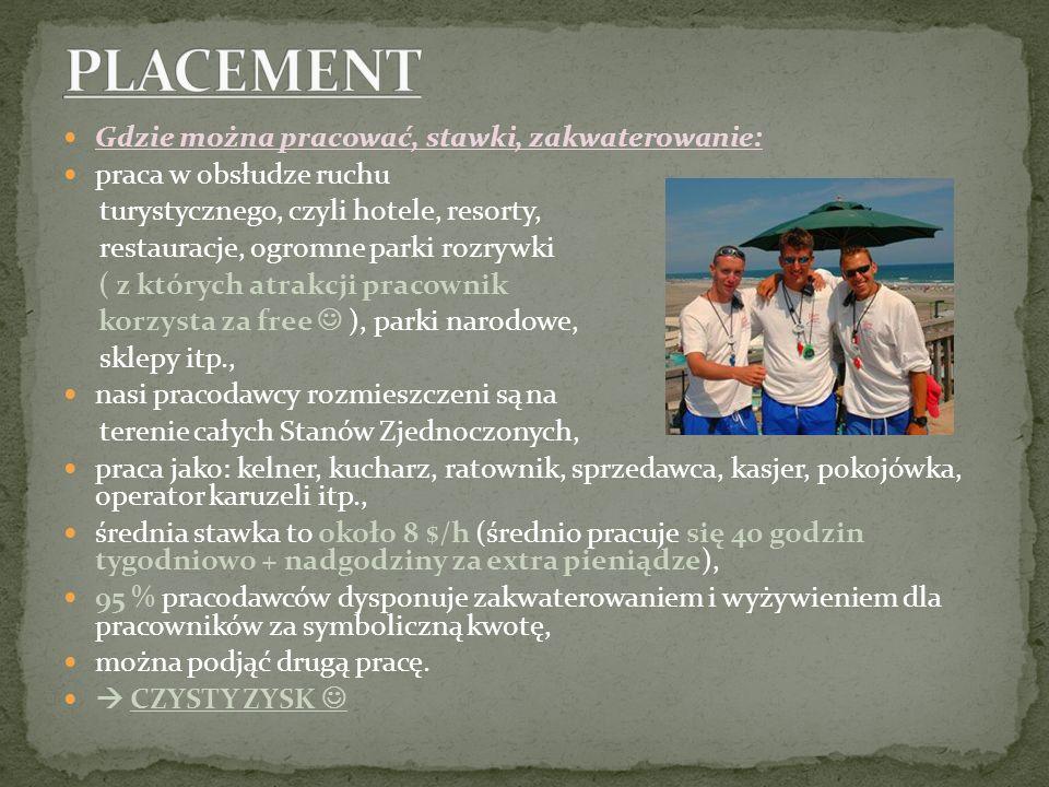 Gdzie można pracować, stawki, zakwaterowanie: praca w obsłudze ruchu turystycznego, czyli hotele, resorty, restauracje, ogromne parki rozrywki ( z któ