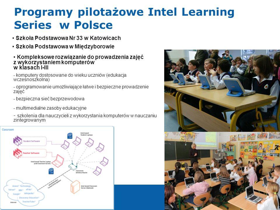 999 Programy pilotażowe Intel Learning Series w Polsce Kompleksowe rozwiązanie do prowadzenia zajęć z wykorzystaniem komputerów w klasach I-III - komp