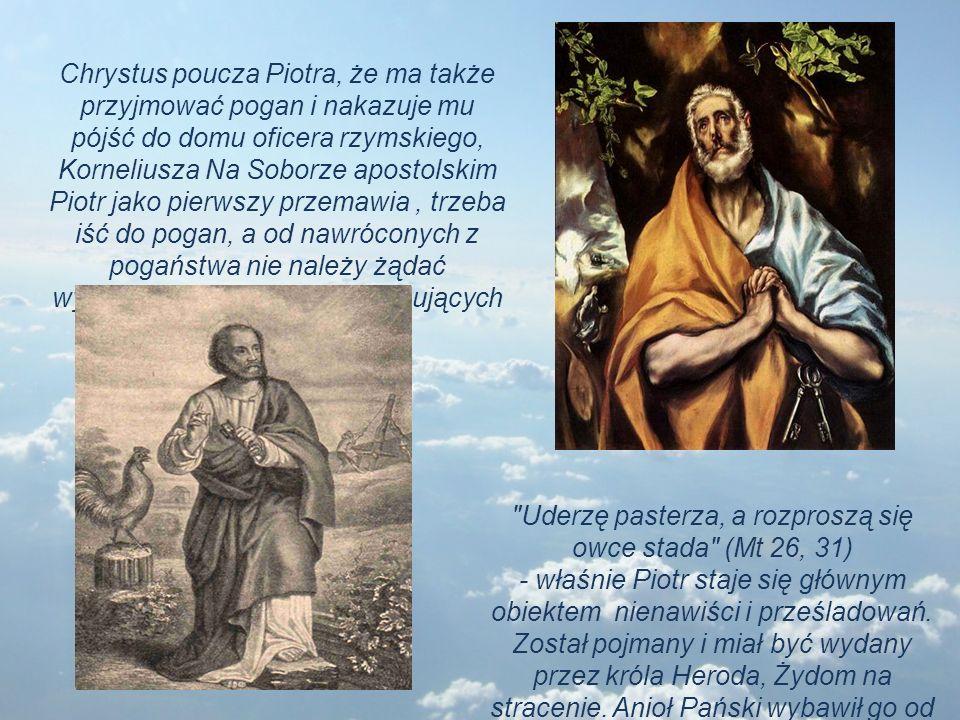 Uderzę pasterza, a rozproszą się owce stada (Mt 26, 31) - właśnie Piotr staje się głównym obiektem nienawiści i prześladowań.