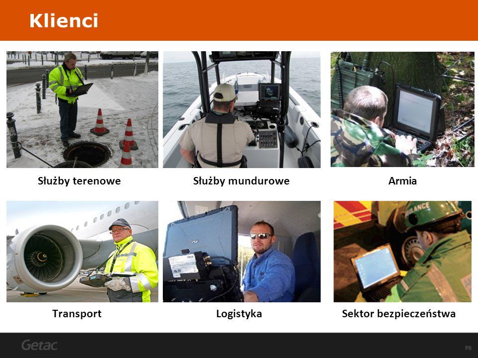 P19 Dodatkowe porty we/wy Wyjście do anten 3G / GPS Zintegrowane zasilanie Solidna konstrukcja Stacja dokująca do pojazdów