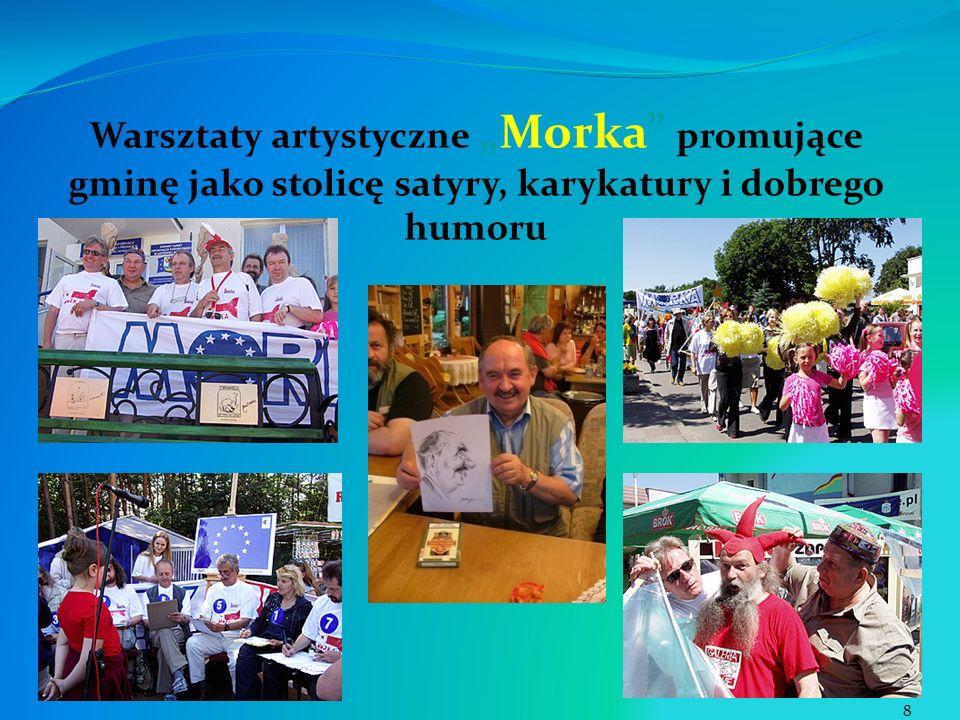 Warsztaty artystyczneMorka promujące gminę jako stolicę satyry, karykatury i dobrego humoru 8