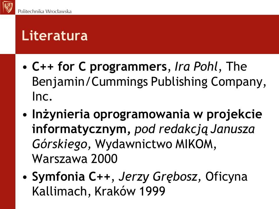 Programowanie obiektowe - historia Idea programowania obiektowego została wprowadzona po raz pierwszy w 1966 roku w języku Simula Burzliwy rozwój programowania obiektowego od początku lat 80, po powstaniu języka Smalltalk Do dzisiaj powstało ponad 50 języków programowania obiektowego Języki w pełni obiektowe, zaprojektowane od podstaw, takie jak: Smalltalk, Flavors, Eiffel, OakLisp, Trellis –jedynym dostępnym stylem programowania jest styl obiektowy, który implementowany jest z reguły w sposób uniwersalny, przejrzysty i wygodny dla użytkownika Języki powstałe przez rozszerzenie tradycyjnych języków programowania o elementy obiektowości, takie jak C++, Objective-C, LOOPS, Pascal –możliwy jest zarówno klasyczny, jak i obiektowy styl programowania.