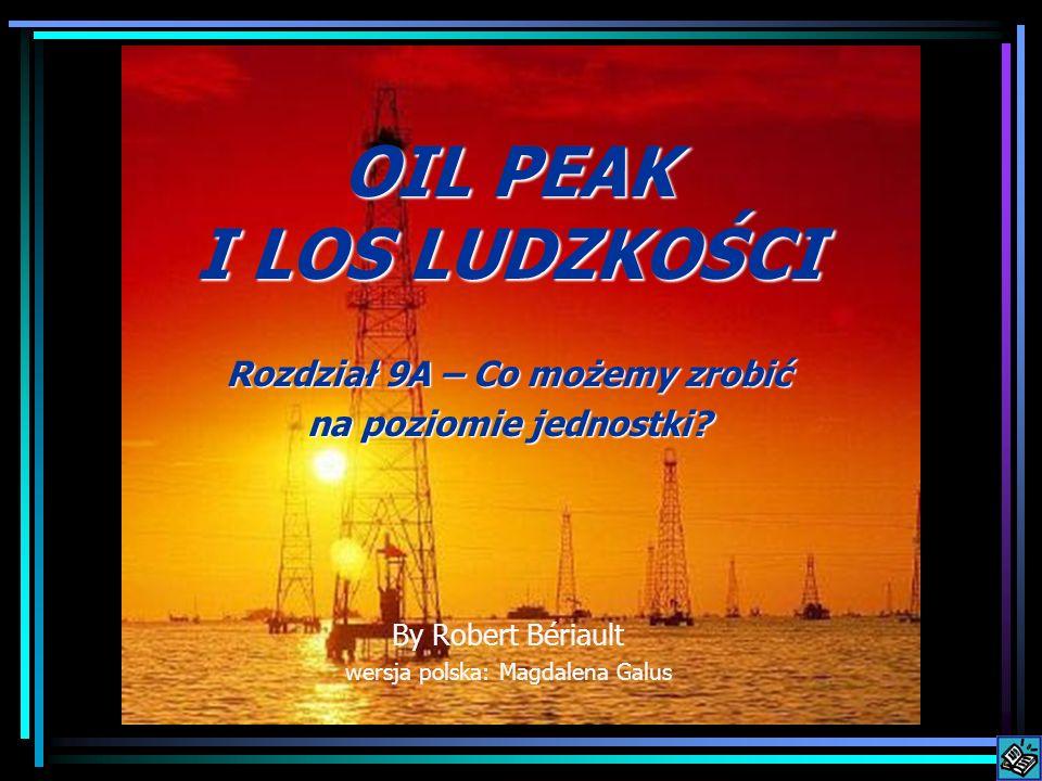OIL PEAK I LOS LUDZKOŚCI Rozdział 9A – Co możemy zrobić na poziomie jednostki? By Robert Bériault wersja polska: Magdalena Galus