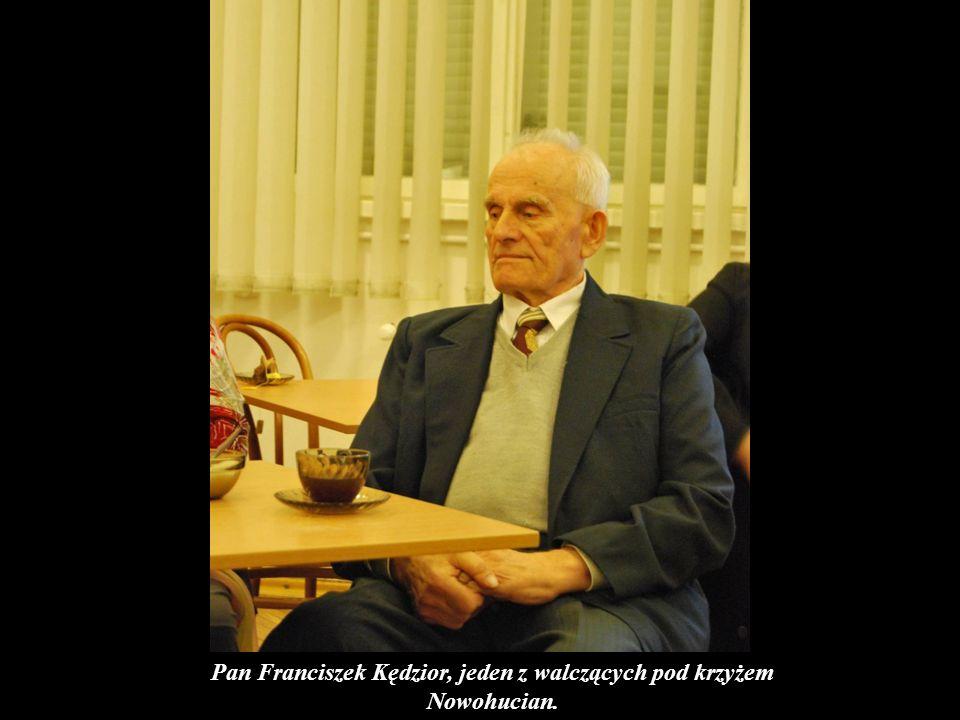 Pan Franciszek Kędzior, jeden z walczących pod krzyżem Nowohucian.