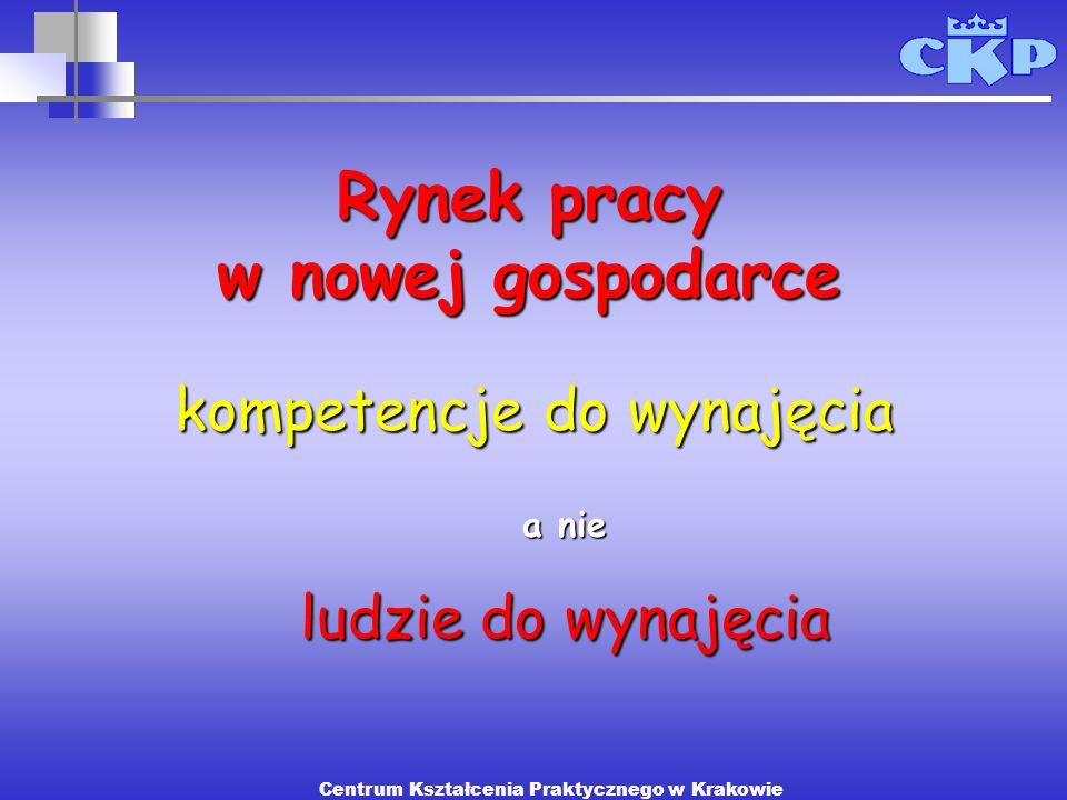 kompetencje do wynajęcia Rynek pracy w nowej gospodarce a nie ludzie do wynajęcia Centrum Kształcenia Praktycznego w Krakowie