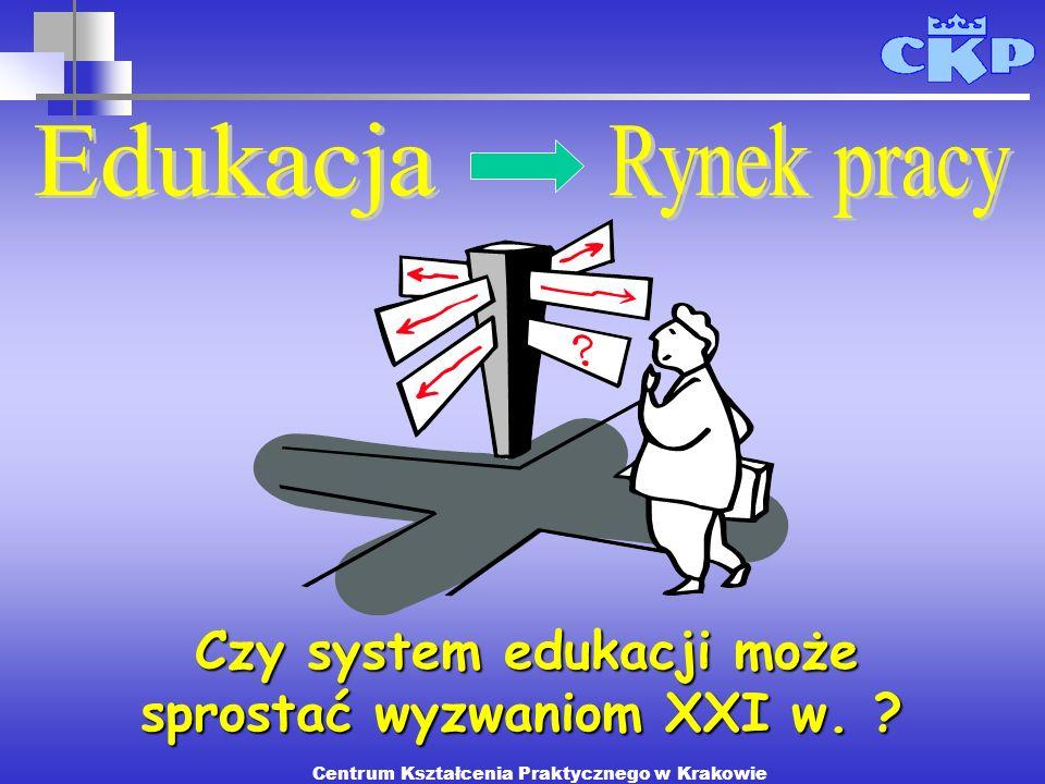 Czy system edukacji może sprostać wyzwaniom XXI w. ? Centrum Kształcenia Praktycznego w Krakowie