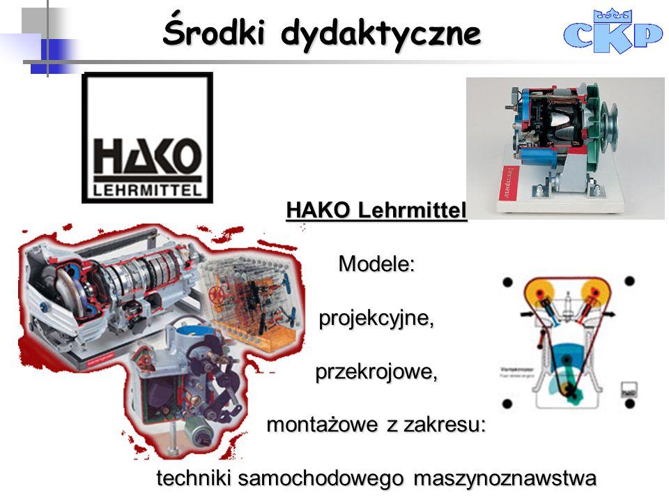HAKO Lehrmittel Modele:projekcyjne,przekrojowe, montażowe z zakresu: techniki samochodowego maszynoznawstwa Centrum Kształcenia Praktycznego w Krakowi