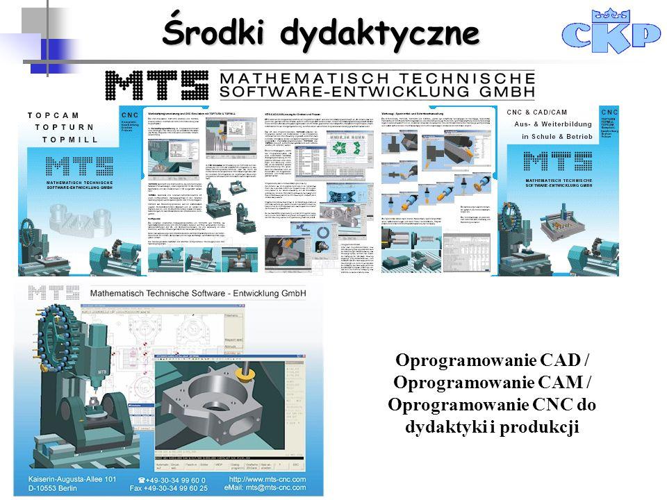 Środki dydaktyczne Oprogramowanie CAD / Oprogramowanie CAM / Oprogramowanie CNC do dydaktyki i produkcji