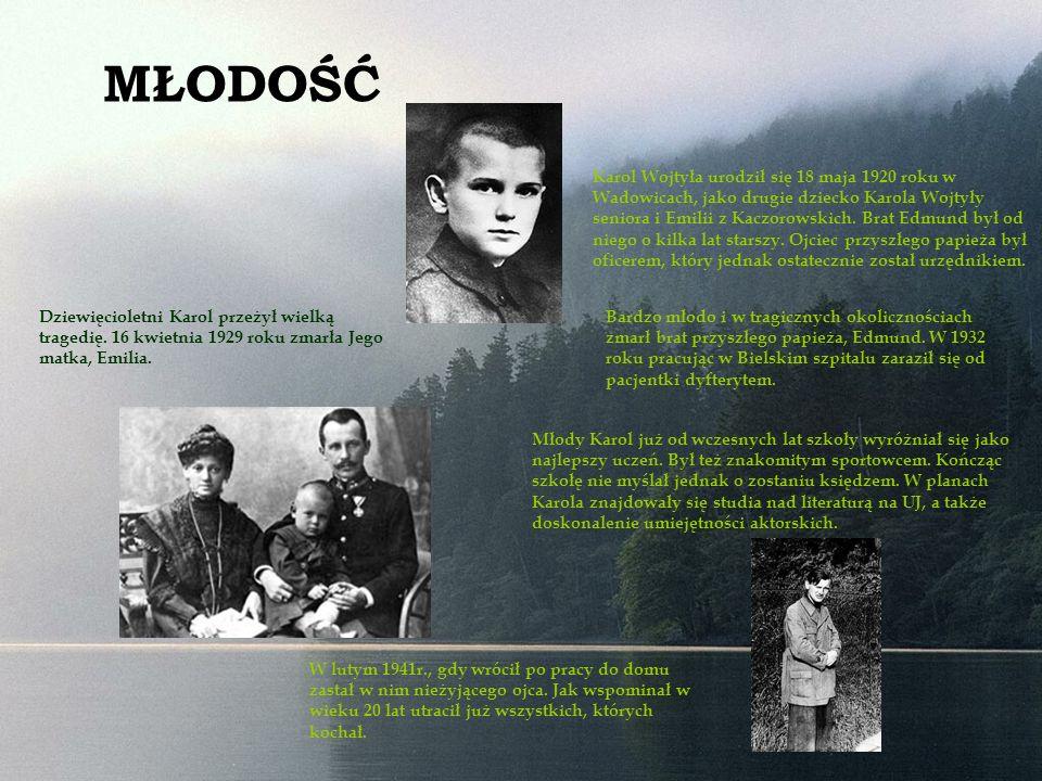 Jesienią 1942r.Karol Wojtyła podjął decyzję o wstąpieniu do seminarium duchownego.