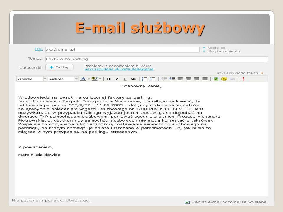 E-mail służbowy