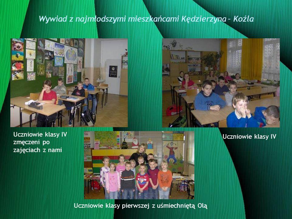 Uczniowie klasy pierwszej z uśmiechniętą Olą Uczniowie klasy IV zmęczeni po zajęciach z nami Uczniowie klasy IV