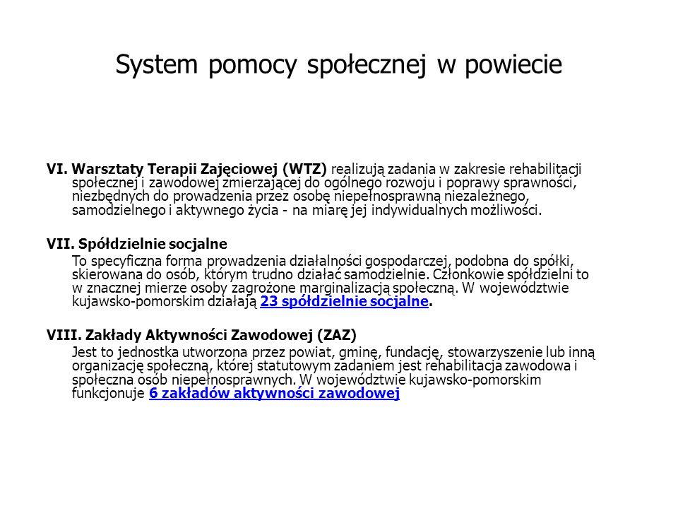 System pomocy społecznej w powiecie VI.