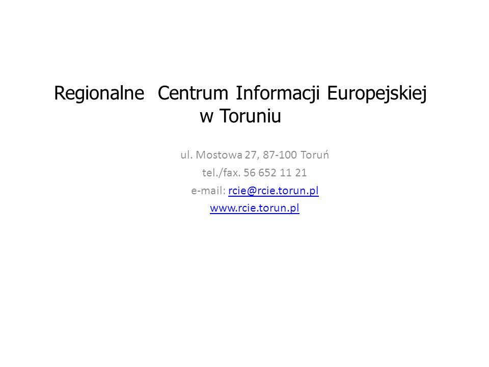 Regionalne Centrum Informacji Europejskiej w Toruniu ul.
