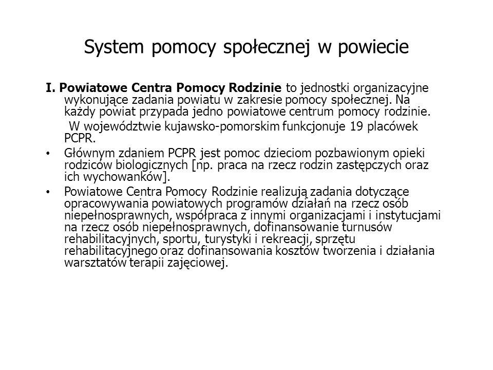 System pomocy społecznej w powiecie I.